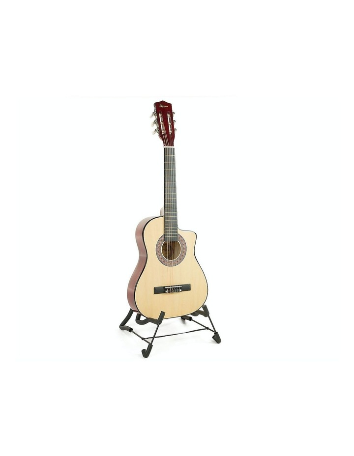 Childrens Acoustic Cutaway  Wooden Guitar Ideal Kids Gift 1/2 Size Natural image 1