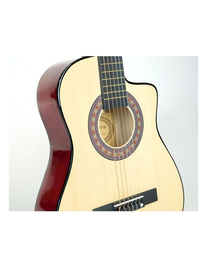 Childrens Acoustic Cutaway  Wooden Guitar Ideal Kids Gift 1/2 Size Natural image 4