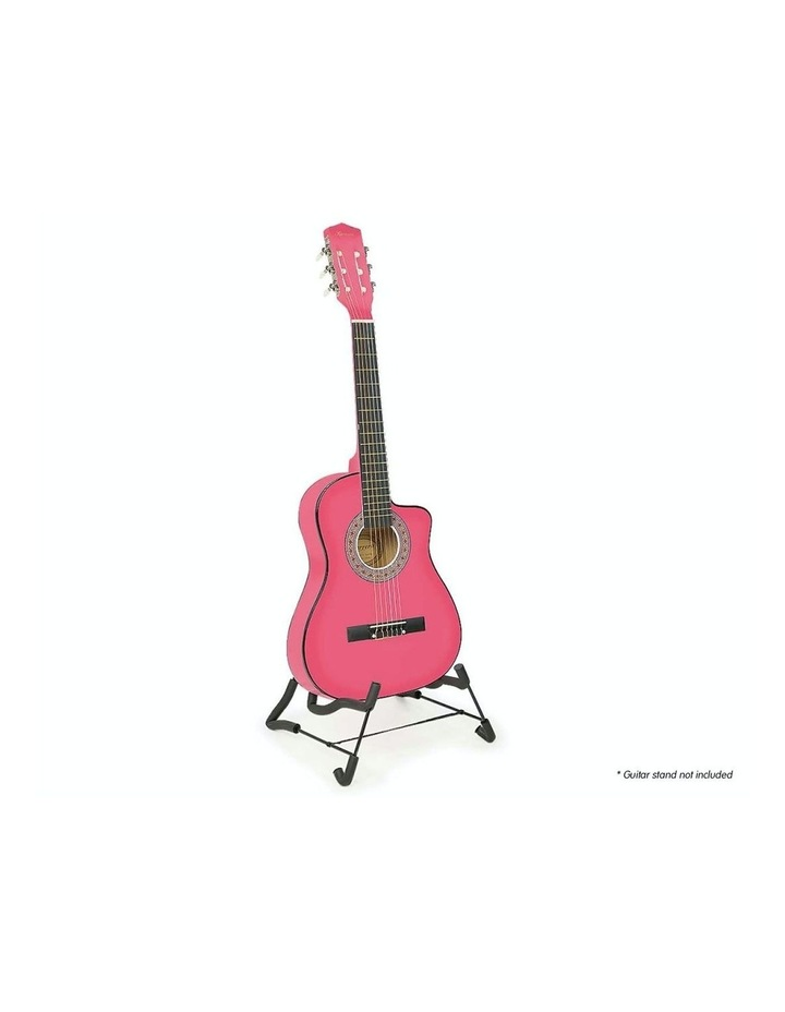 Pink Childrens Acoustic Guitar Ideal Kids Gift 1/2 Size image 2