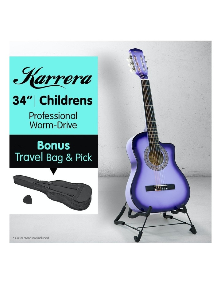 Purple Childrens Acoustic Guitar Ideal Kids Gift 1/2 Size image 2