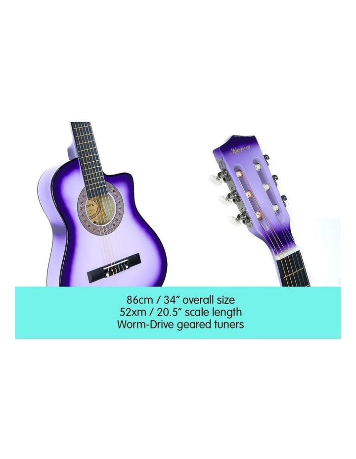 Purple Childrens Acoustic Guitar Ideal Kids Gift 1/2 Size image 3