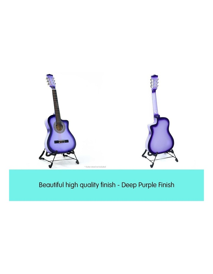 Purple Childrens Acoustic Guitar Ideal Kids Gift 1/2 Size image 4