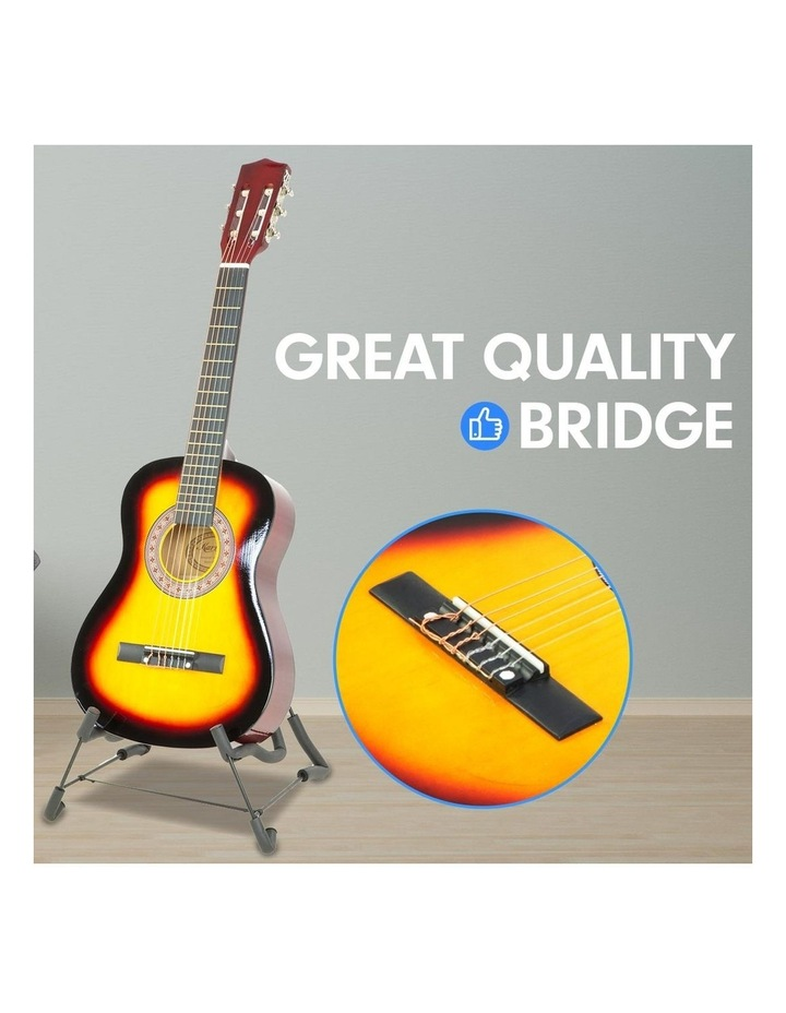 Childrens Acoustic Guitar Ideal Kids Gift 34in Sunburst Picks Bag image 4