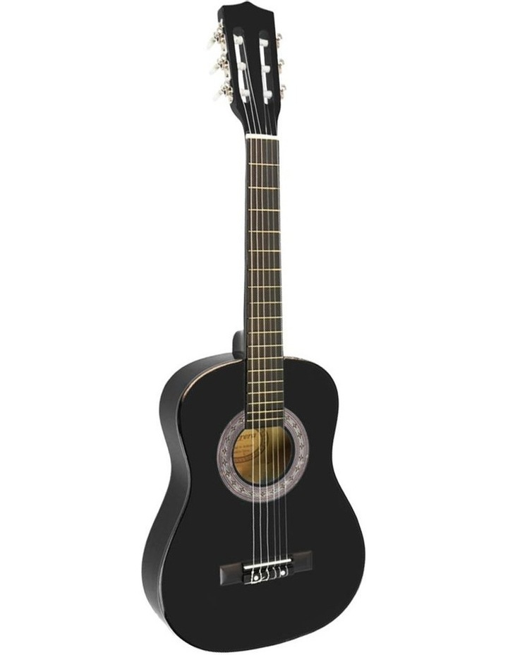 Childrens Acoustic Guitar Ideal Kids Gift Picks Strap Bag - Black image 1