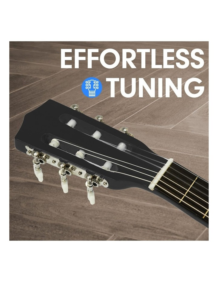 Childrens Acoustic Guitar Ideal Kids Gift Picks Strap Bag - Black image 2