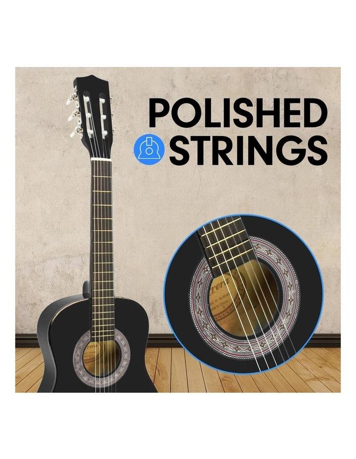 Childrens Acoustic Guitar Ideal Kids Gift Picks Strap Bag - Black image 3