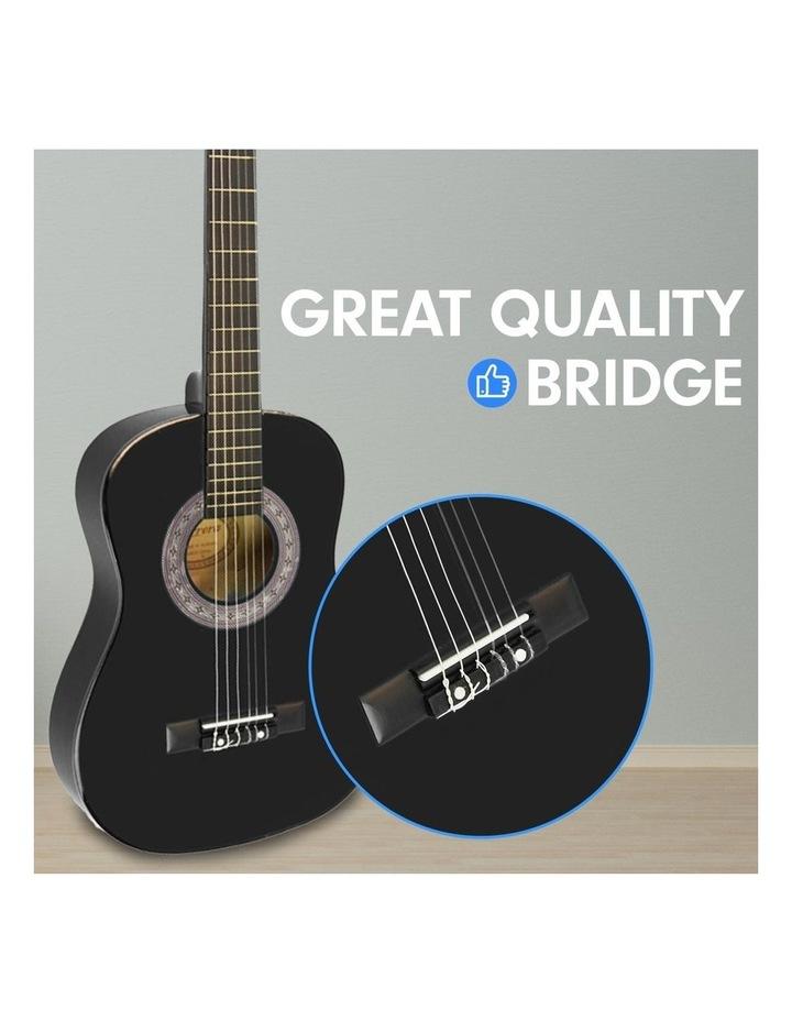 Childrens Acoustic Guitar Ideal Kids Gift Picks Strap Bag - Black image 4