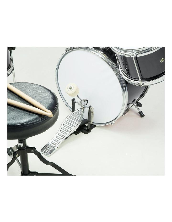 Childrens 4 Piece Black Diamond Drum Kit Set Musical Instrument Black image 2