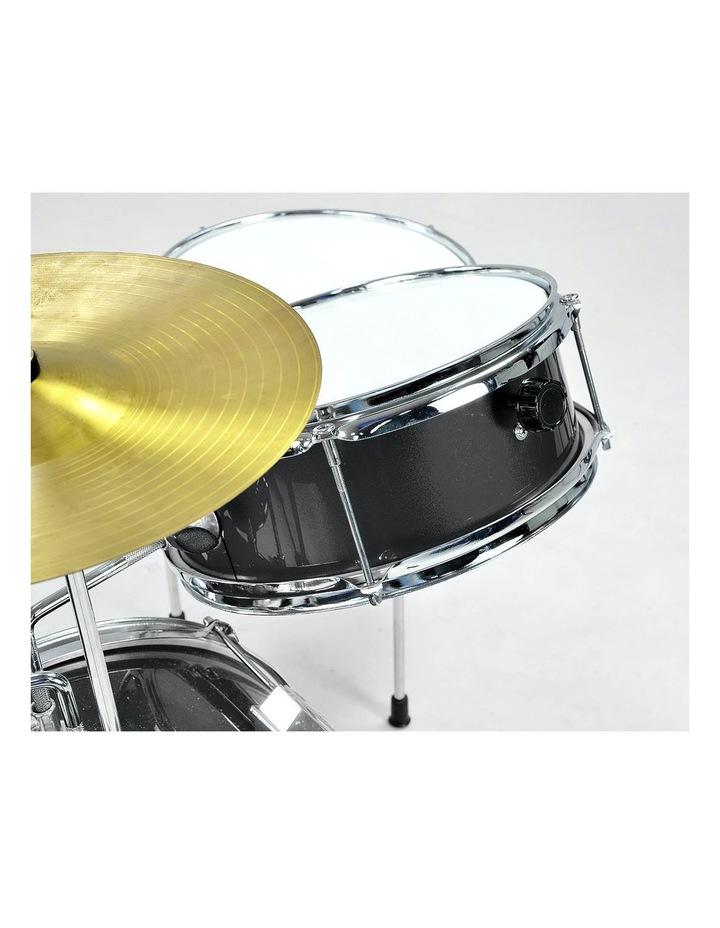 Childrens 4 Piece Black Diamond Drum Kit Set Musical Instrument Black image 4