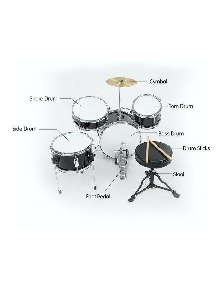 Childrens 4 Piece Black Diamond Drum Kit Set Musical Instrument Black image 5