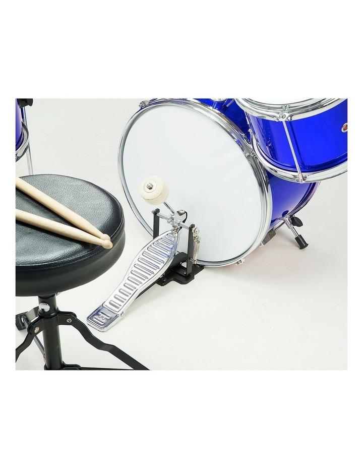 Childrens kids4 Piece Blue Diamond Drum Kit Set Musical Instrument image 2