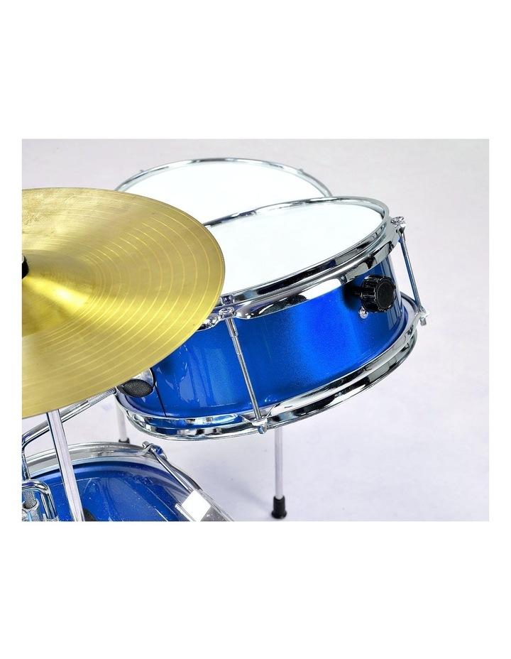 Childrens kids4 Piece Blue Diamond Drum Kit Set Musical Instrument image 4