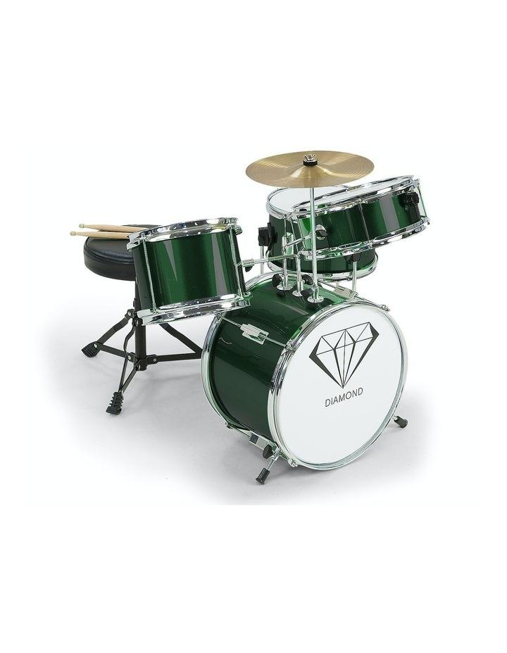 Childrens 4 Piece Diamond Drum Kit Set Musical Instrument Kids Percussion image 1