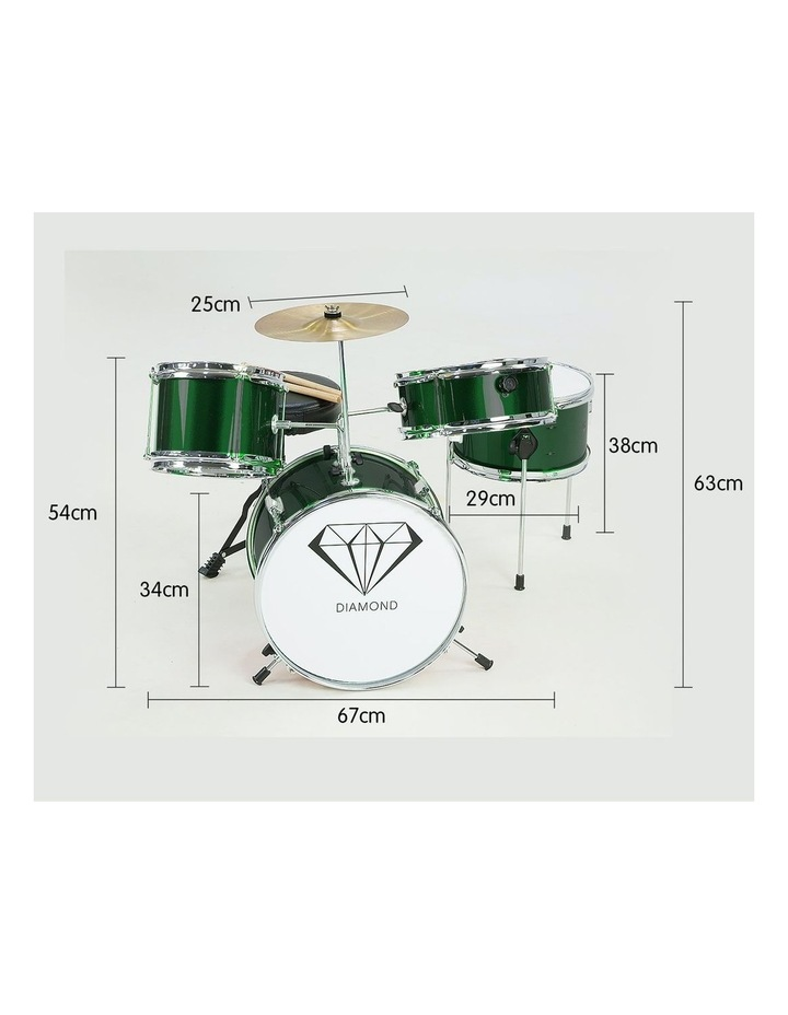 Childrens 4 Piece Diamond Drum Kit Set Musical Instrument Kids Percussion image 2