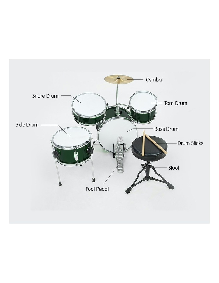Childrens 4 Piece Diamond Drum Kit Set Musical Instrument Kids Percussion image 6