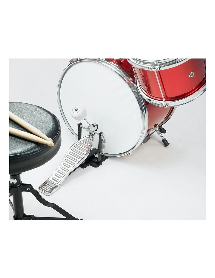 Childrens 4 Piece Red Diamond Drum Kit Set Musical Instrument Kids Percussion image 2