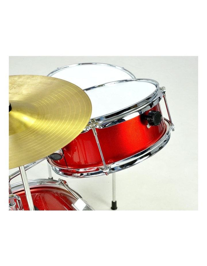 Childrens 4 Piece Red Diamond Drum Kit Set Musical Instrument Kids Percussion image 4