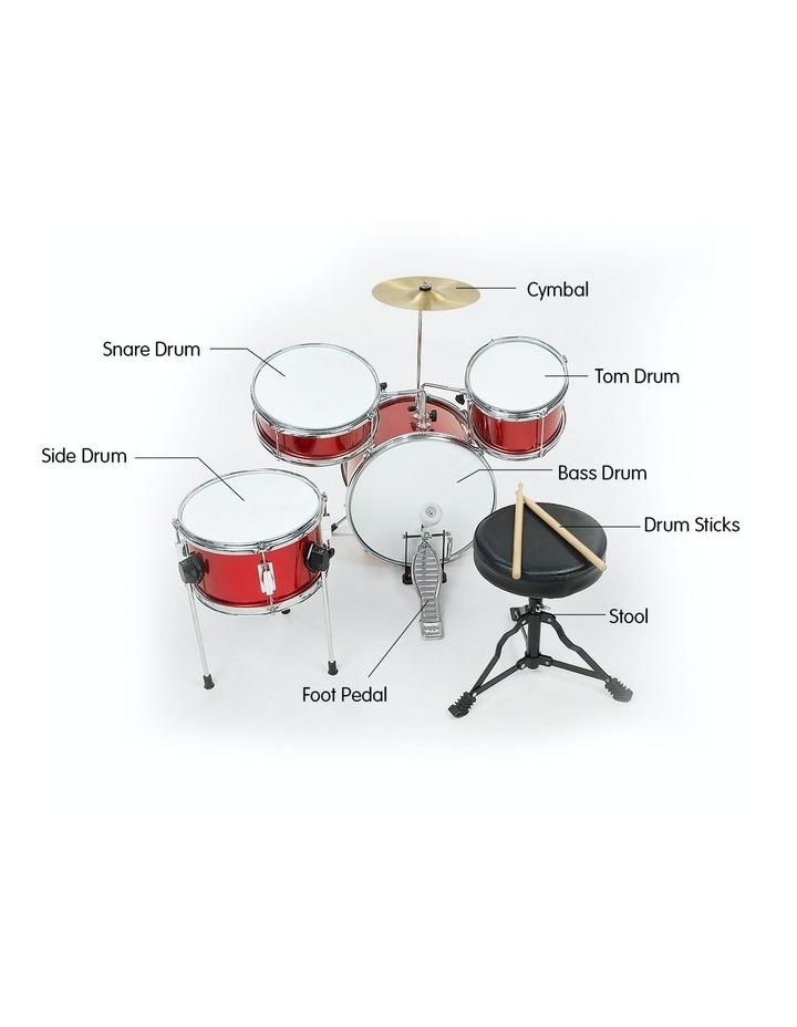 Childrens 4 Piece Red Diamond Drum Kit Set Musical Instrument Kids Percussion image 5