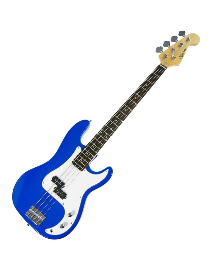 Electric Bass Guitar Electronic Tuner Stand Strap Bag Blue image 1