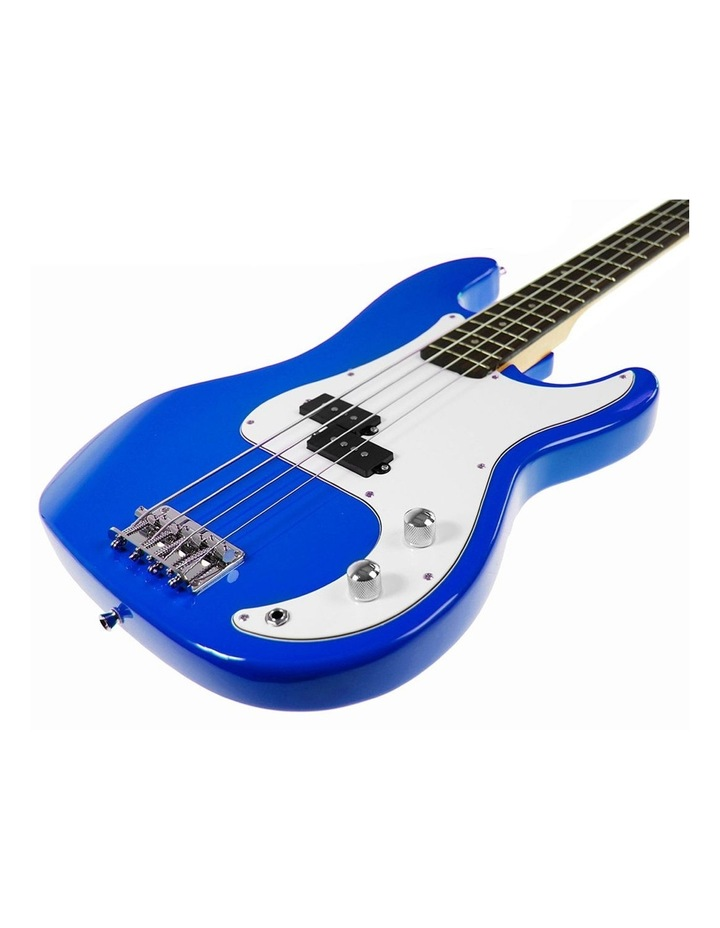 Electric Bass Guitar Electronic Tuner Stand Strap Bag Blue image 2