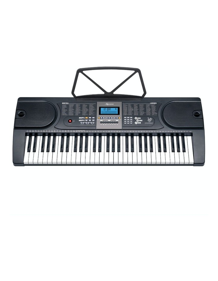 Karrera 61 Led Key Electronic Keyboard Teaching Piano Electric Music Stand image 1