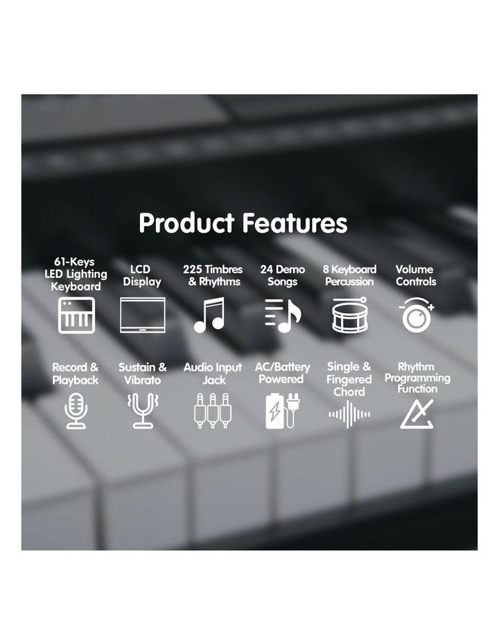 Karrera 61 Led Key Electronic Keyboard Teaching Piano Electric Music Stand image 5