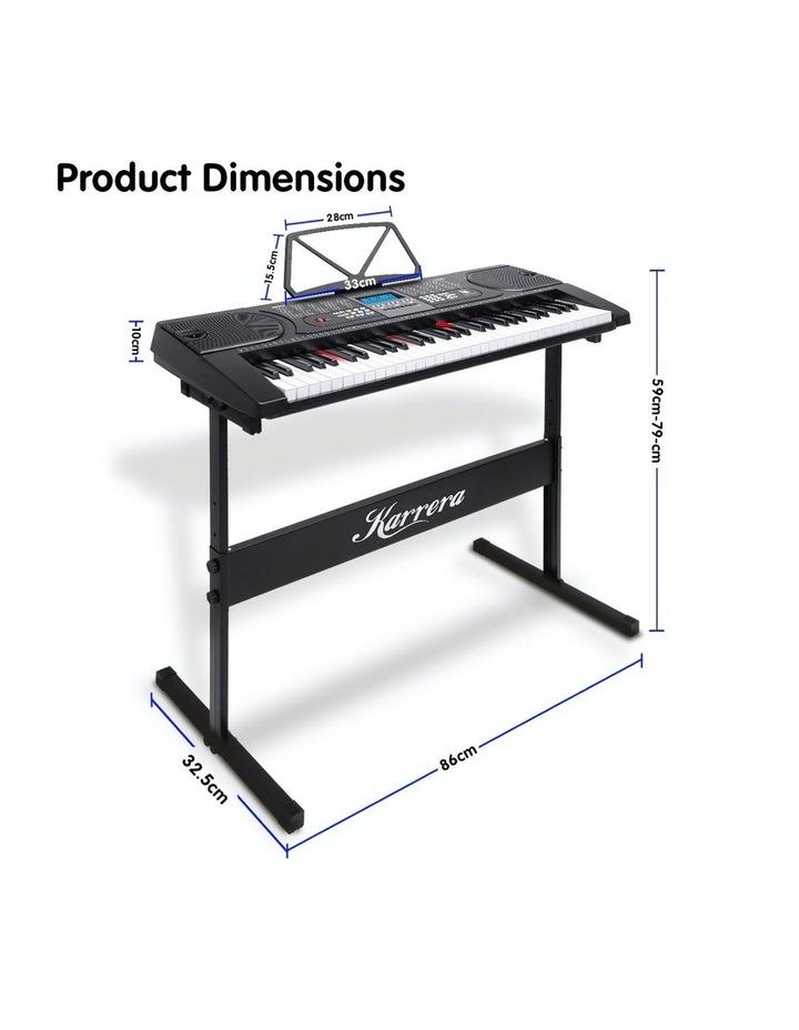 Karrera 61 Led Key Electronic Keyboard Teaching Piano Electric Music Stand image 6