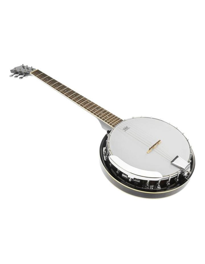 6 String Resonator Banjo -  Black image 1