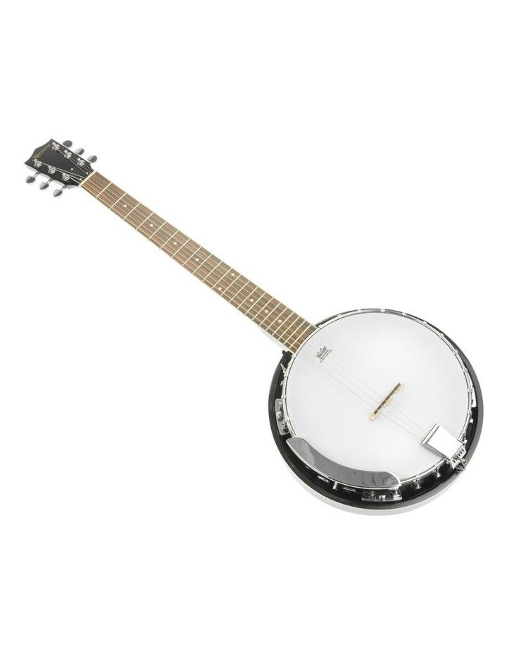 6 String Resonator Banjo -  Black image 2