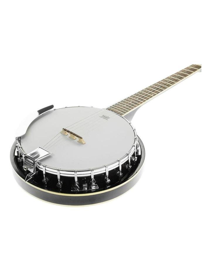 6 String Resonator Banjo -  Black image 3