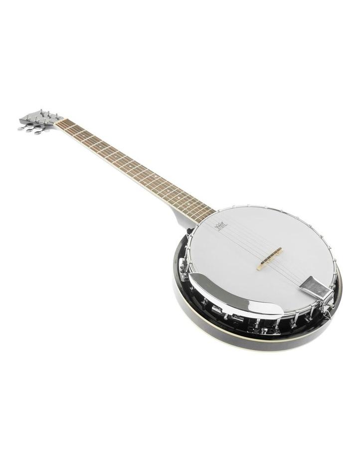 6 String Resonator Banjo -  Black image 4