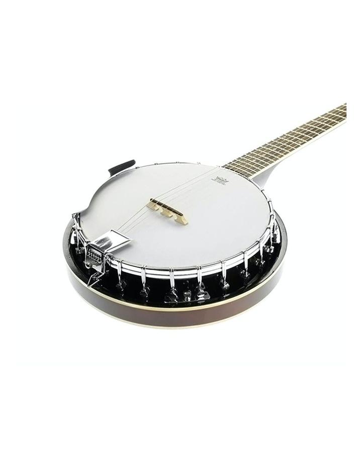 6 String Bluegrass Resonator Banjo Gloss Black Brown image 1