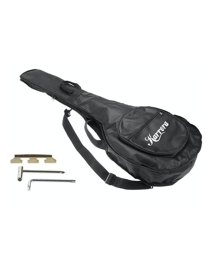 6 String Bluegrass Resonator Banjo Gloss Black Brown image 5
