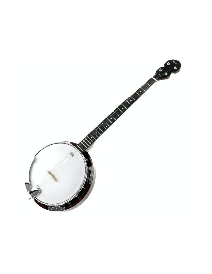 5 String Bluegrass Resonator Banjo Natural Finish image 1