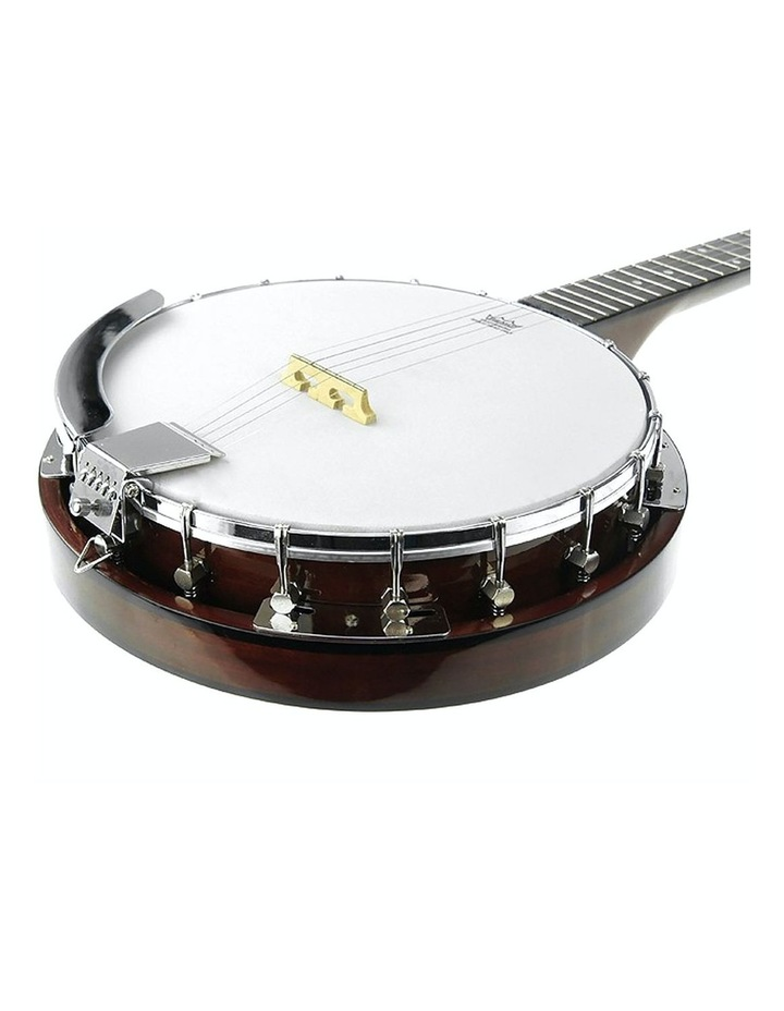 5 String Bluegrass Resonator Banjo Natural Finish image 2