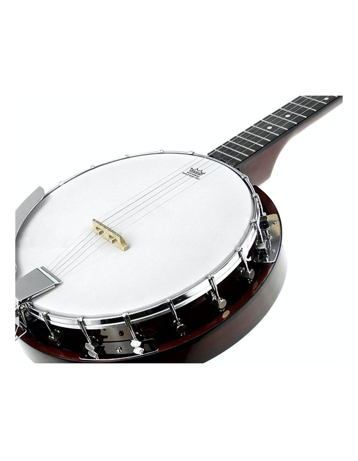 5 String Bluegrass Resonator Banjo Natural Finish image 3