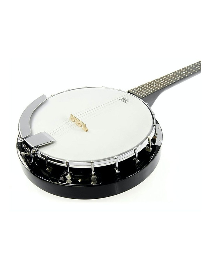 5 String Bluegrass Resonator Banjo Gloss Black image 1