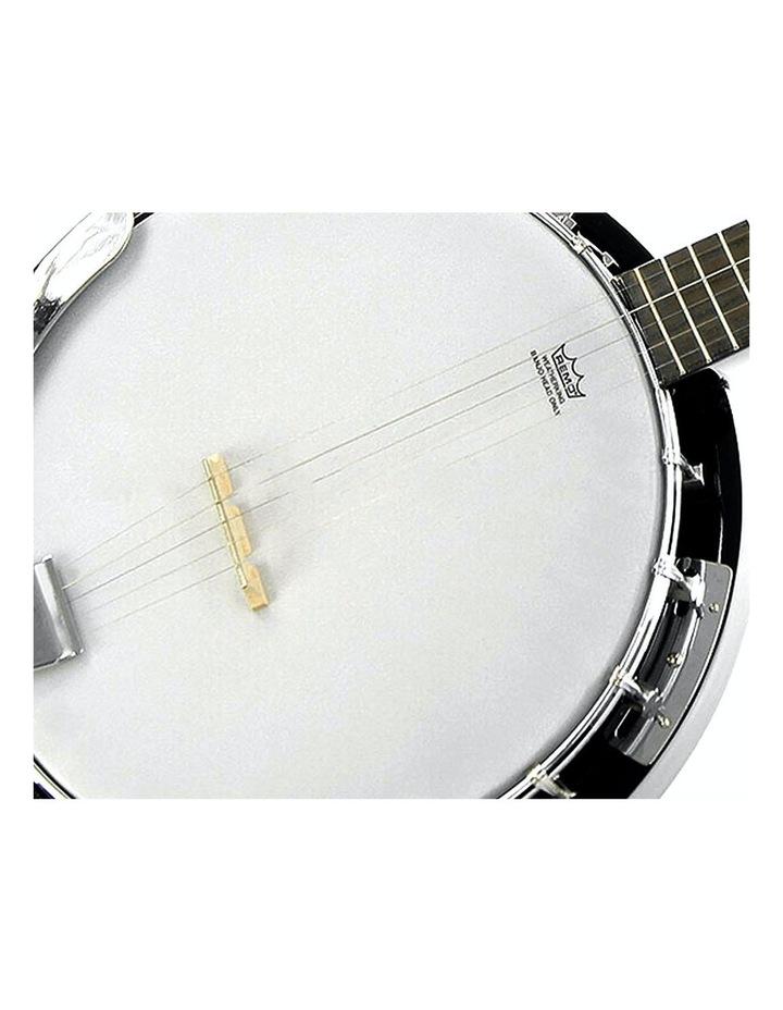 5 String Bluegrass Resonator Banjo Gloss Black image 2