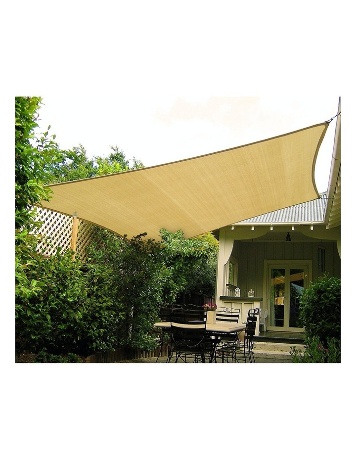 3m X 3m Outdoor Sun Shade Sail Canopy - Sand Cloth Square image 3