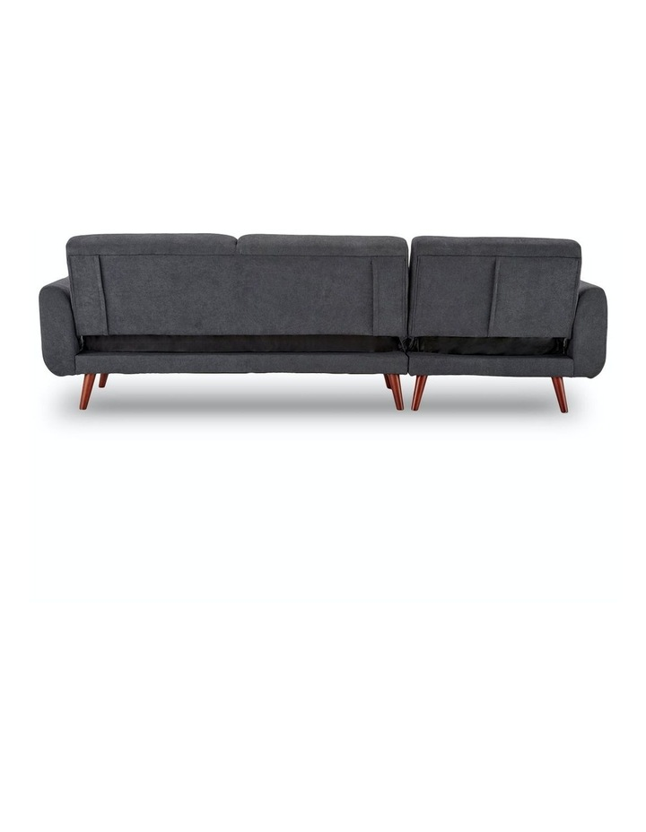 Corner Sofa Bed Faux Velvet Lounge Couch L-shaped Modular Chaise Grey image 7