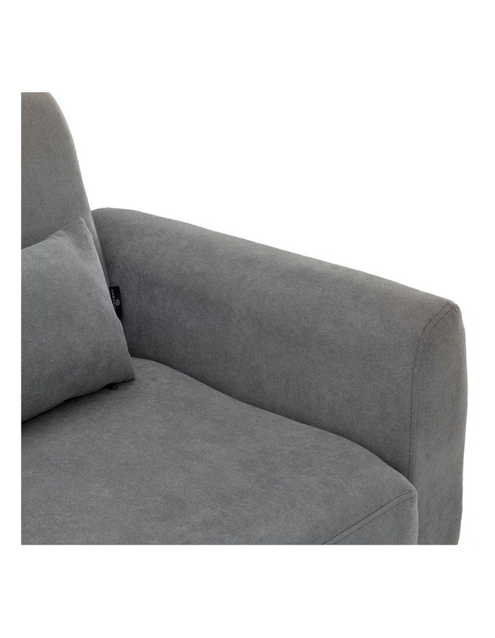 Corner Sofa Bed Faux Velvet Lounge Couch Modular Chaise Light Grey image 6