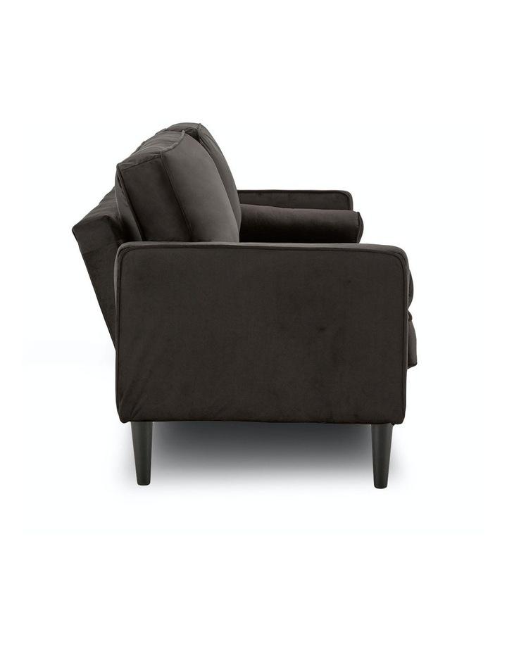 Faux Velvet Sofa Bed Couch Furniture Lounge Suite Futon Adjustable Black image 3