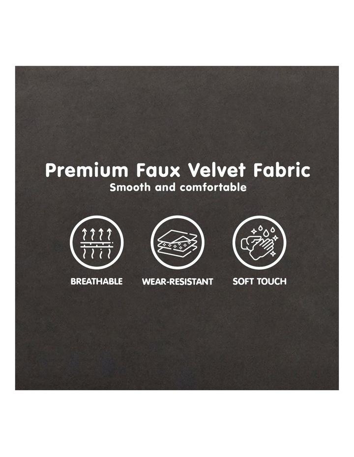 Faux Velvet Sofa Bed Couch Furniture Lounge Suite Futon Adjustable Black image 6