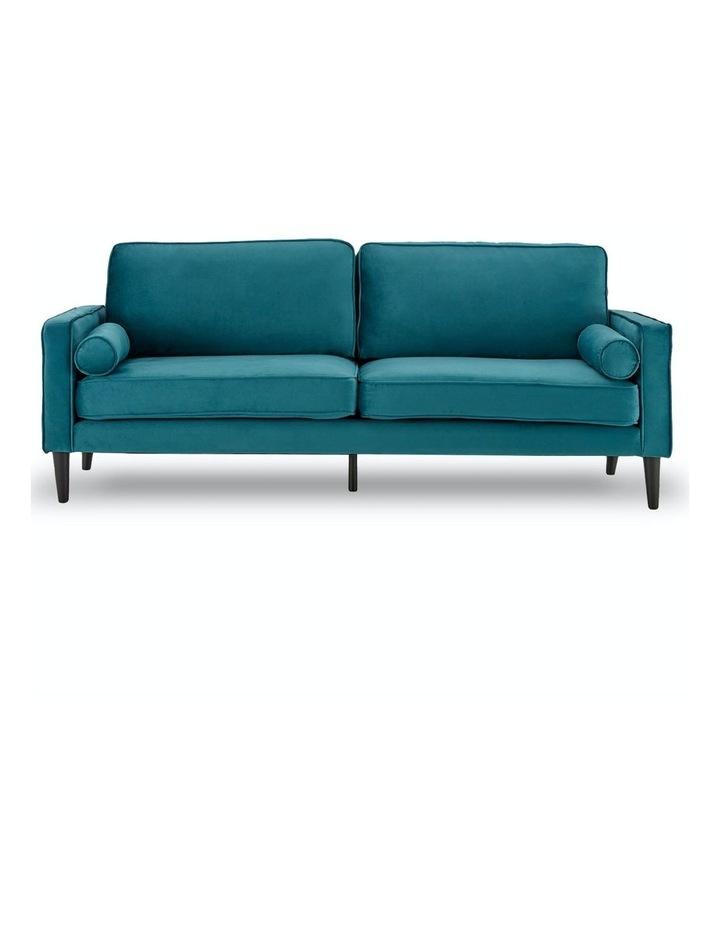 Faux Velvet Sofa Bed Couch Furniture Lounge Suite Futon Adjustable Blue image 1