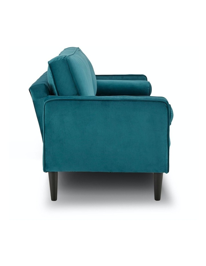 Faux Velvet Sofa Bed Couch Furniture Lounge Suite Futon Adjustable Blue image 3
