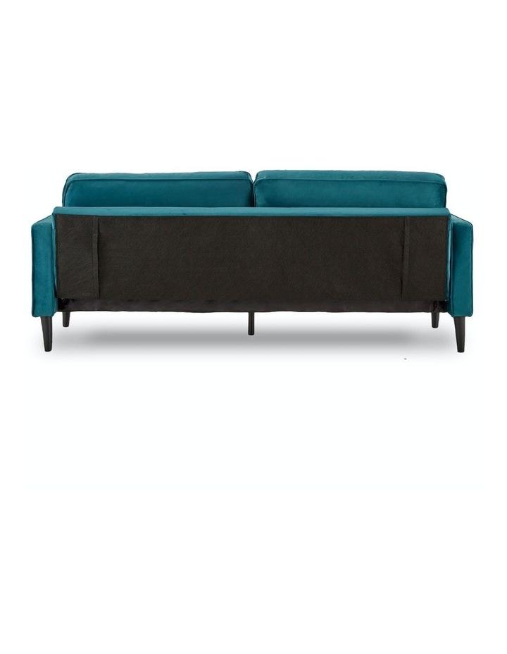 Faux Velvet Sofa Bed Couch Furniture Lounge Suite Futon Adjustable Blue image 4