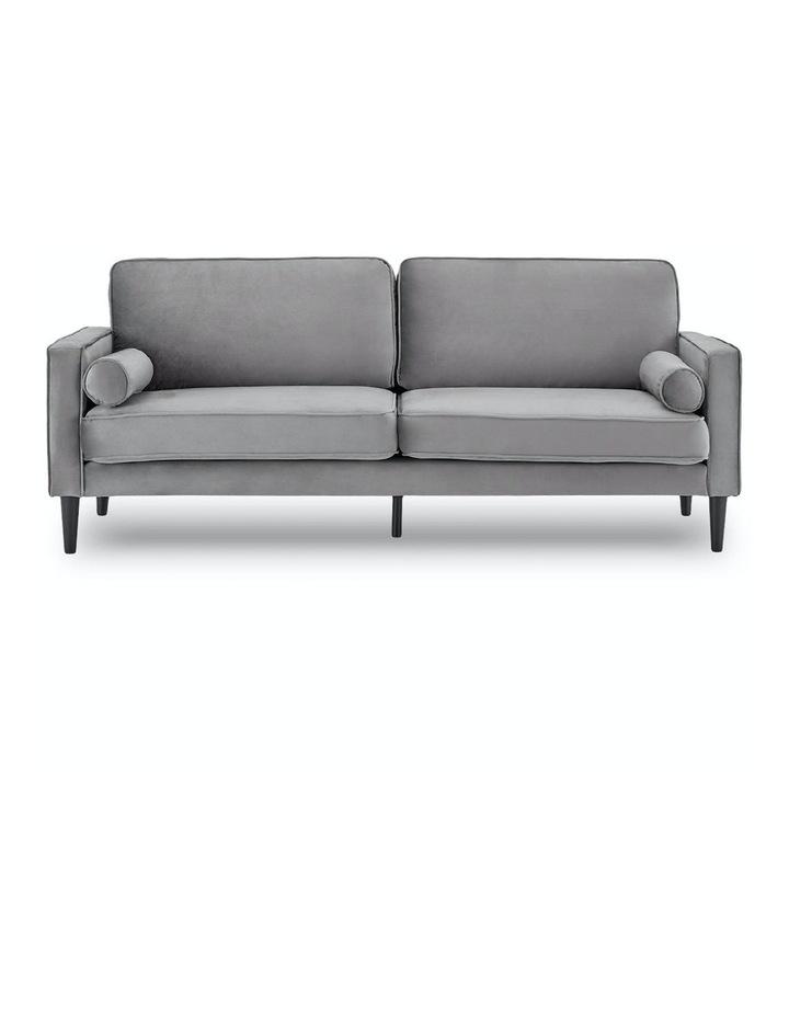Faux Velvet Sofa Bed Couch Furniture Lounge Suite Futon Adjustable Grey image 1