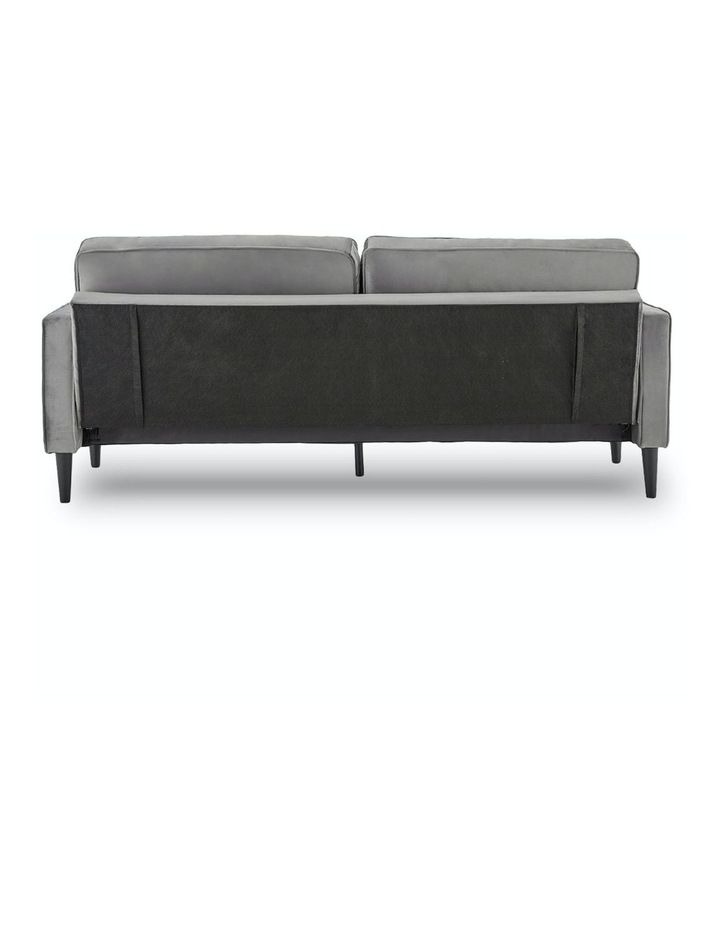 Faux Velvet Sofa Bed Couch Furniture Lounge Suite Futon Adjustable Grey image 4