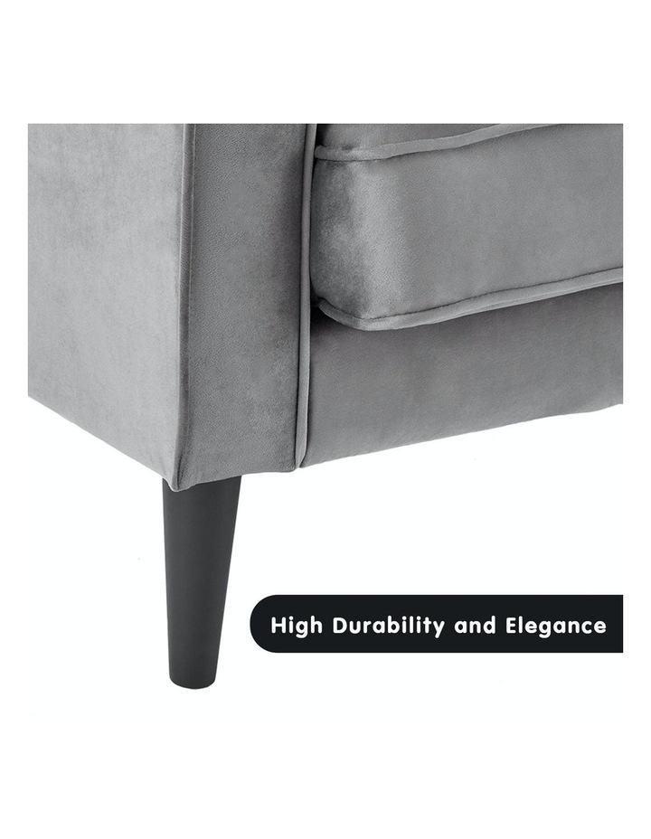 Faux Velvet Sofa Bed Couch Furniture Lounge Suite Futon Adjustable Grey image 6