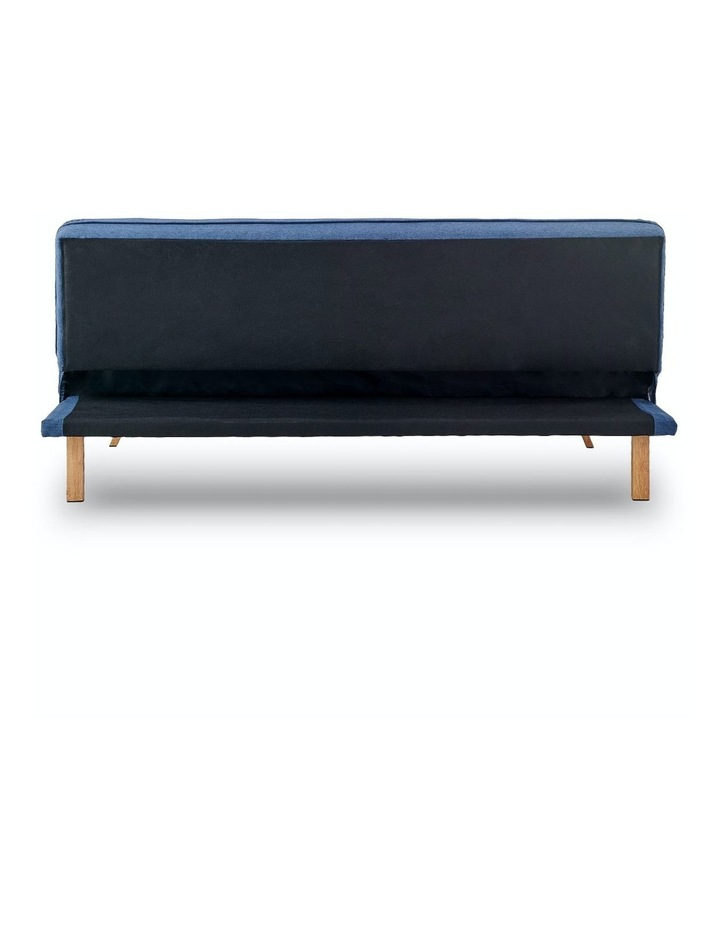 3 Seater Sofa Bed Lounge Couch Modular Furniture Home Linen Fabric Dark Blue image 5